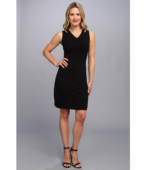 NIC+ZOE - Carnaval Spliced Pencil Dress (Black Onyx) Women