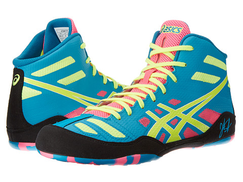 ASICS - JB Elite (Teal/Flash Yellow/Pink) Men's Wrestling Shoes
