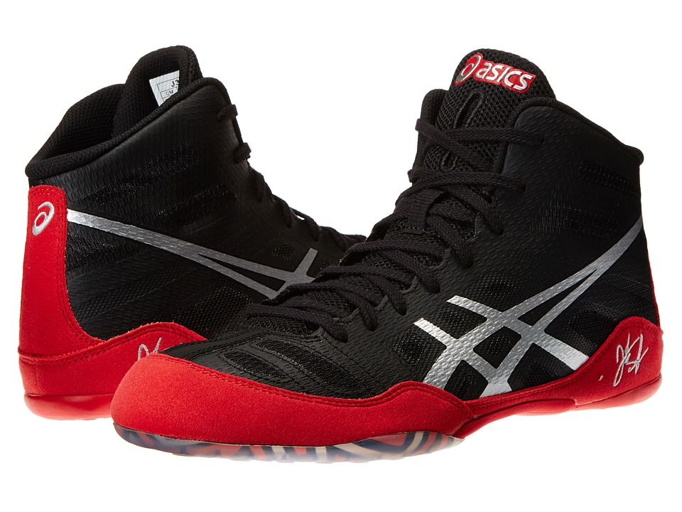 ASICS - JB Elite (Black/Silver/Red) Men's Wrestling Shoes