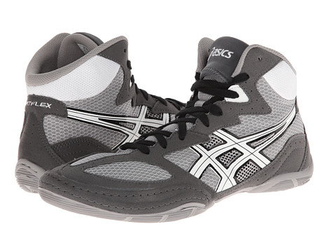 ASICS - Matflex 4 (Granite/White/Black) Men's Wrestling Shoes