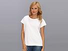 DKNY Jeans Geometric Lace Sweatshirt Tee (White)