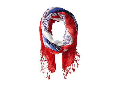 NIC+ZOE - Indian Summer Dotty Stripes Scarf (Multi) Scarves