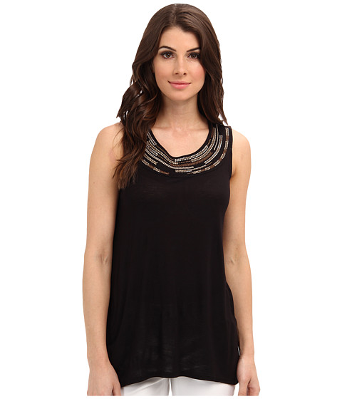 NIC+ZOE - Indian Summer Subtle Neutrals Top (Black Onyx) Women's Sleeveless