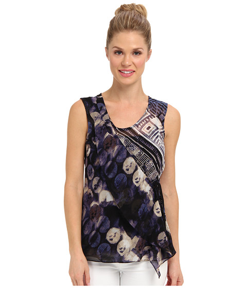 NIC+ZOE - Indian Summer Moon Beat Top (Multi) Women's Blouse