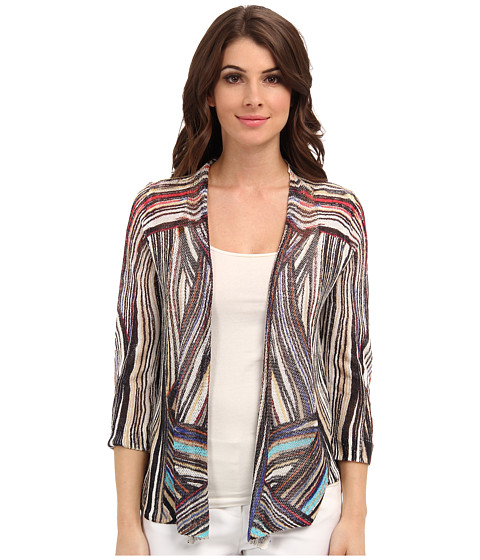 NIC+ZOE - Indian Summer In The Streets Cardy (Multi) Women
