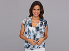 DKNY Jeans Sea Floral Print Wrap Top