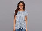 DKNY Jeans Hamptons Stripe Tie Front Top