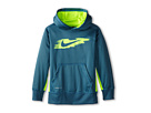 Nike Kids KO 2.0 Core Swoosh OTH Hoodie (Little Kids/Big Kids) (Rift Blue/Volt)