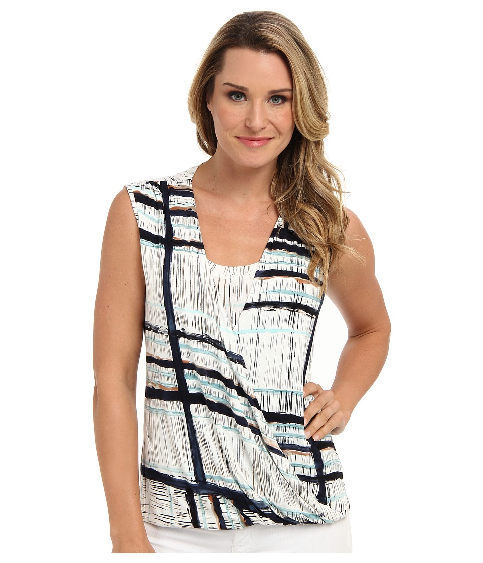 NIC+ZOE - Daybreak Striped Marble Top (Multi) Women's Sleeveless