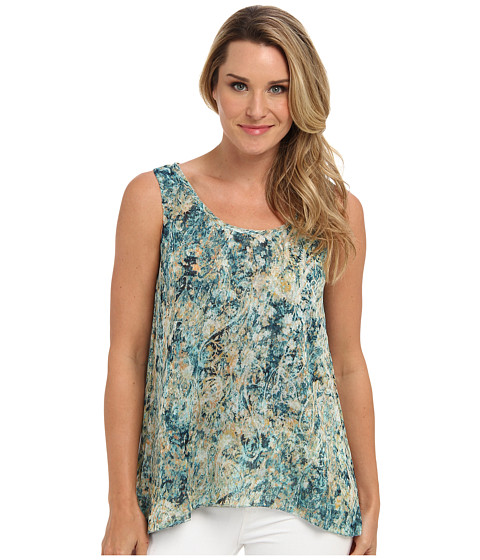 NIC+ZOE - Daybreak Faint Impressions Top (Multi) Women