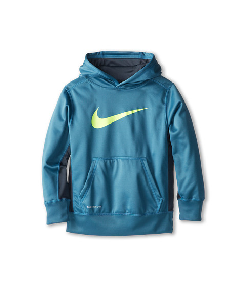 Nike Kids - KO 2.0 Hoody (Little Kids/Big Kids) (Rift Blue/Dark Magnet Grey/Volt) Boy's Sweatshirt