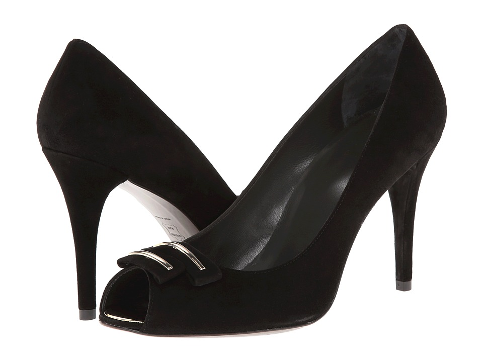 Stuart Weitzman - Baroque (Black Suede) High Heels