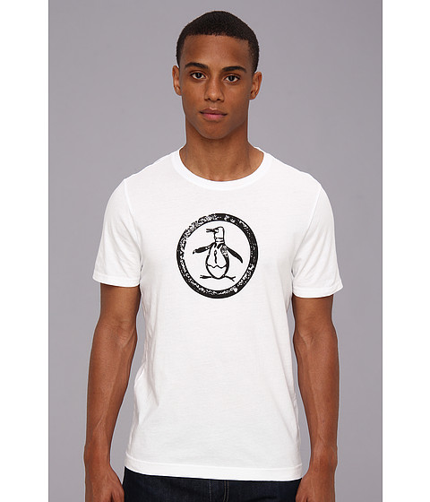 Original Penguin - Circle Logo Tee (Bright White) Men's T Shirt