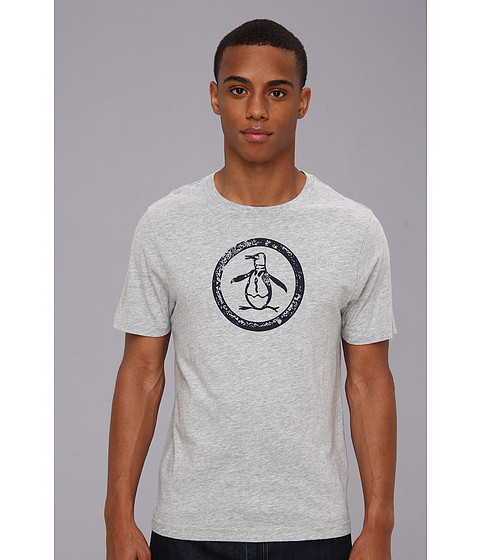 Original Penguin - Circle Logo Tee (Rain Heather) Men