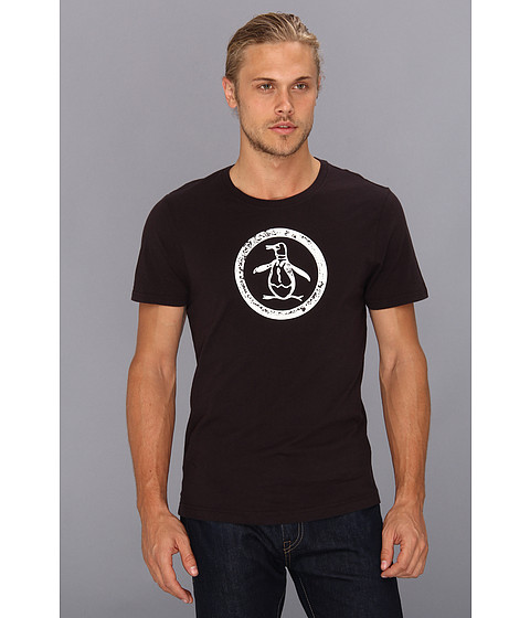 Original Penguin - Circle Logo Tee (Caviar) Men