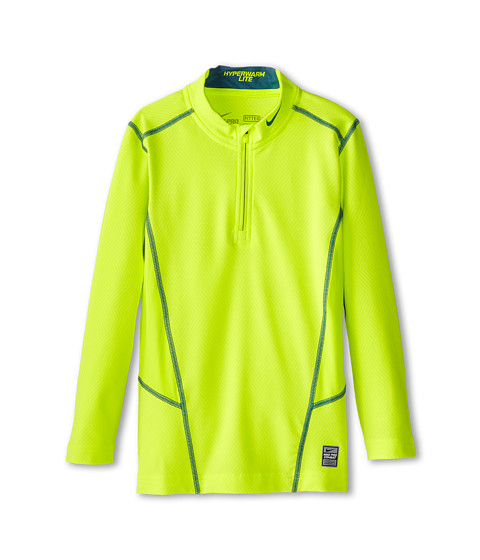 Nike Kids - HyperWarm Lite Fit 1/4 Zip (Little Kids/Big Kids) (Volt/Rift Blue/Rift Blue) Boy's Workout