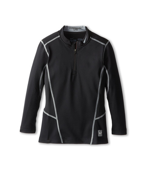 Nike Kids - HyperWarm Lite Fit 1/4 Zip (Little Kids/Big Kids) (Black/Cool Grey/Cool Grey) Boy