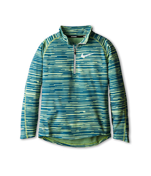 Nike Kids - Element 1/2 Zip L/S Top (Little Kids/Big Kids) (Volt/Reflective Silver) Boy's Long Sleeve Pullover