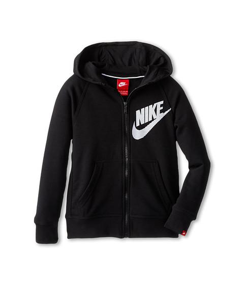 Nike Kids - YA76 HBR SB Full Zip Hoodie (Little Kids/Big Kids) (Black/Black) Boy's Sweatshirt