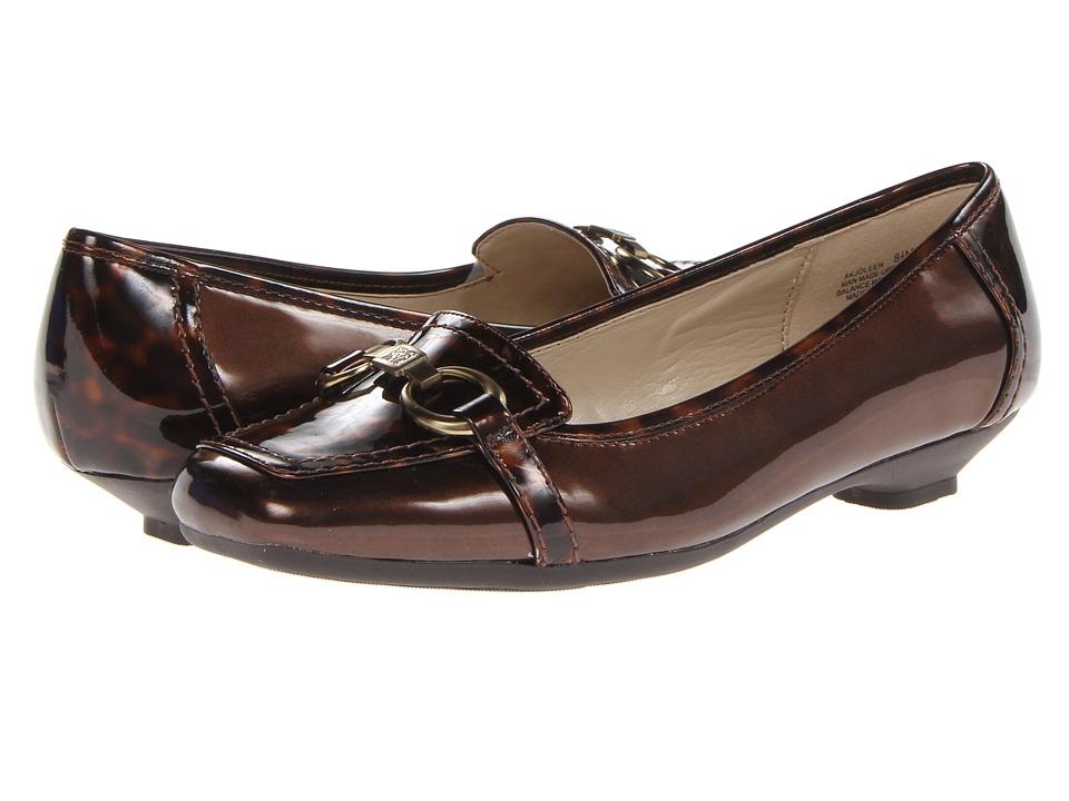 Anne Klein - Joleen (Dark Bronze Patent/Tortoise) Women's Dress Flat Shoes