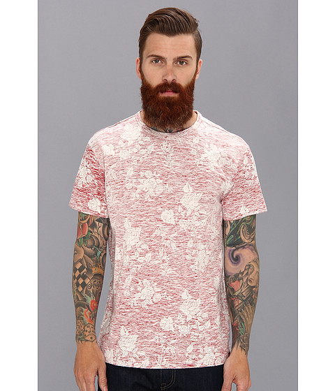 Ben Sherman - Rose Print T-Shirt MB10475 (Red) Men's Short Sleeve Pullover
