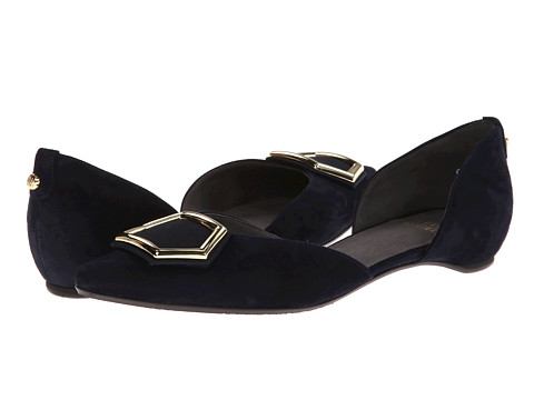 Stuart Weitzman - Hexus (Navy Suede) Women's Flat Shoes