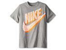 Nike Kids Futura Logo Tee (Little Kids/Big Kids) (Dark Grey Heather/Dark Grey Heather)