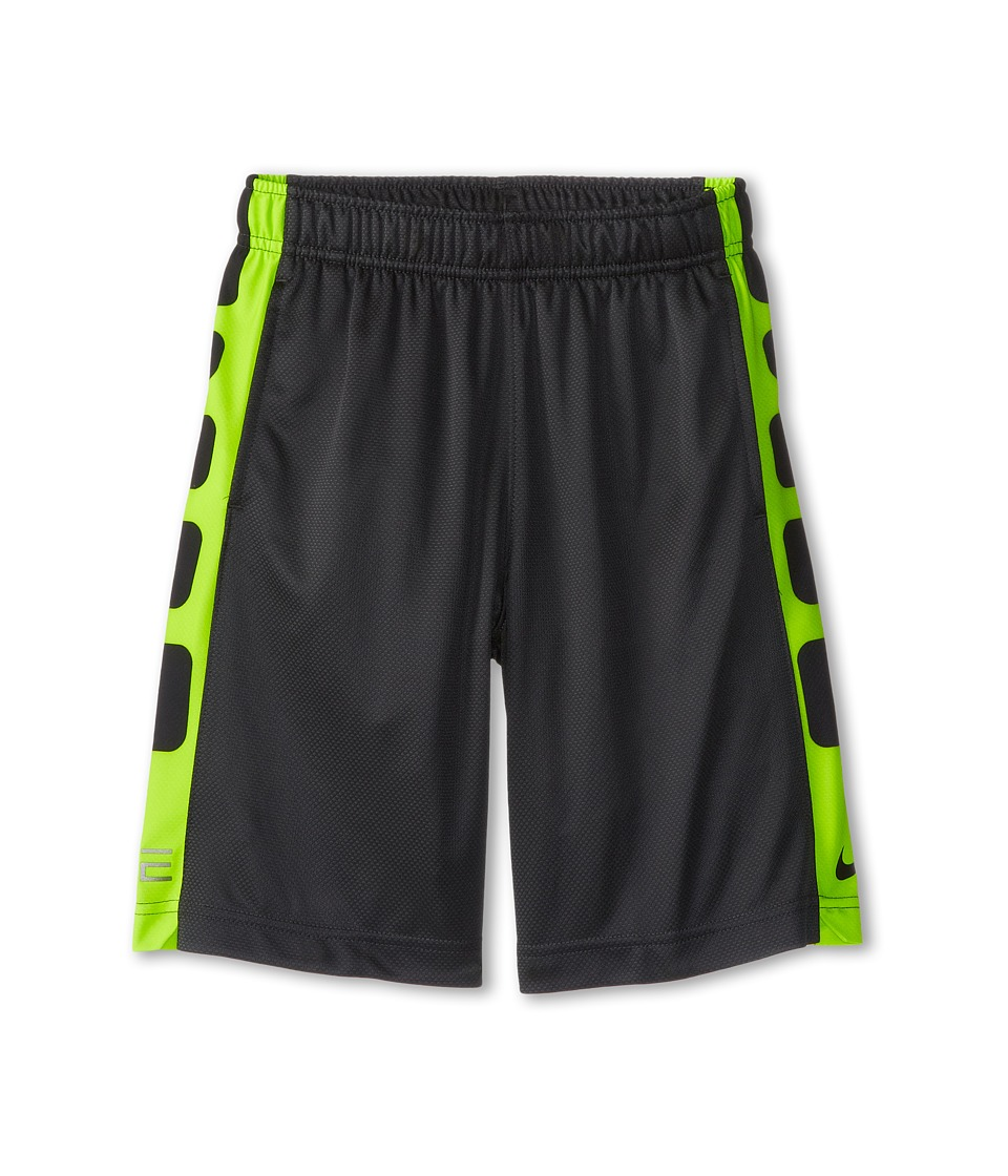 Nike Kids - Elite Stripe Short (Little Kids/Big Kids) (Anthracite/Black/Volt/Black) Boy's Workout