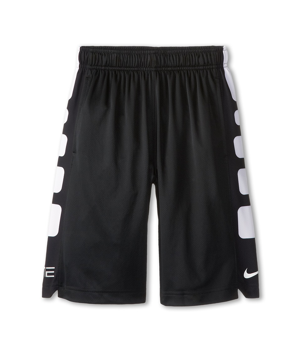 Nike Kids - Elite Stripe Short (Little Kids/Big Kids) (Black/White/White) Boy's Workout