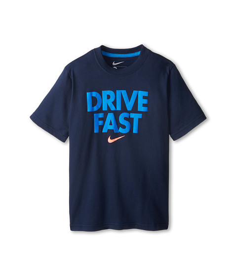 Nike Kids - Drive Fast TD Tee (Little Kids/Big Kids) (Midnight Navy/Light Photo Blue) Boy's T Shirt