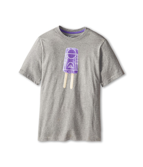 Nike Kids - Popsicle Lane TD Tee (Little Kids/Big Kids) (Dark Grey Heather/Purple Haze) Boy