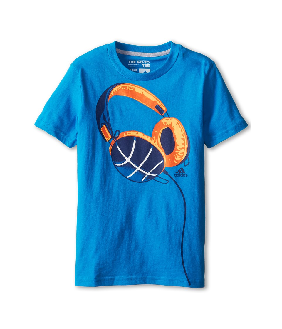 adidas Kids Phones Tee Boys T Shirt (Blue)