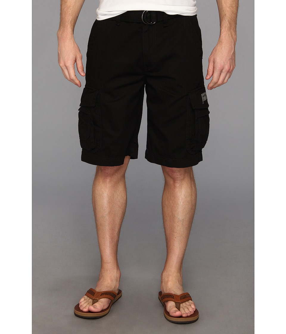 UNIONBAY - Survivor Cargo Belted Short (Black) Men's Shorts
