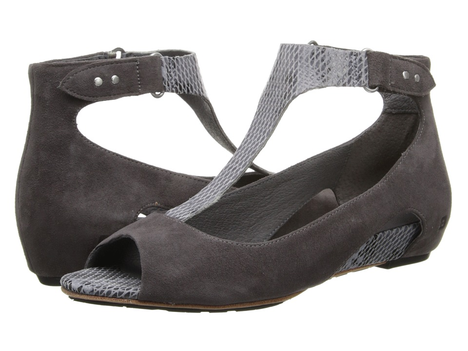 Tsubo - Gerri Snake (Charcoal Suede) Women's Sandals