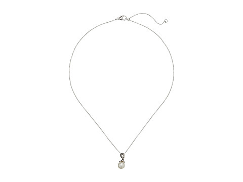 Judith Jack - Pearl Romance 16/18 Pendant Necklace (Marcasite/Crystal/White Glass Pearl) Necklace