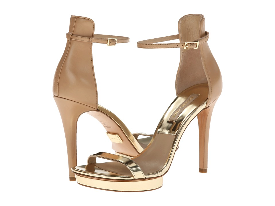 Michael Kors - Doris (Pale Gold 18K Specchio/Smooth Calf) High Heels