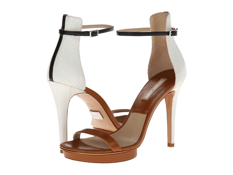 Michael Kors - Doris (Luggage/Optic White Palladium Smooth Calf/Sueded Genuine Snake) High Heels