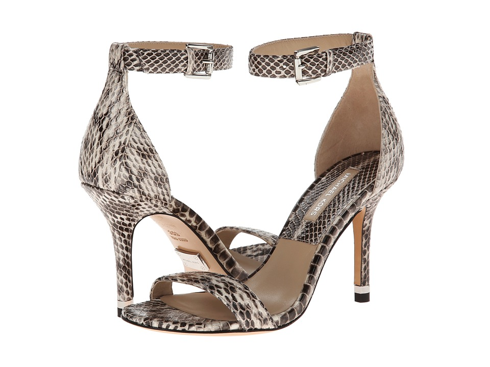 Michael Kors Natasia (Natural Palladium Genuine Snake) High Heels
