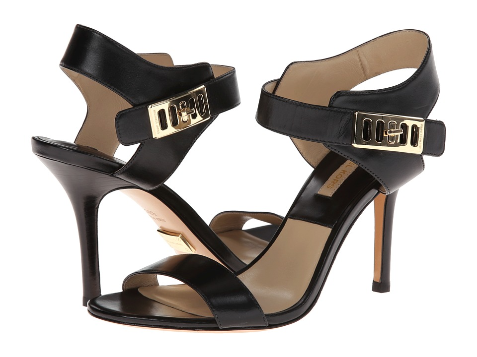 Michael Kors Nell (Black 18K Smooth Calf) High Heels