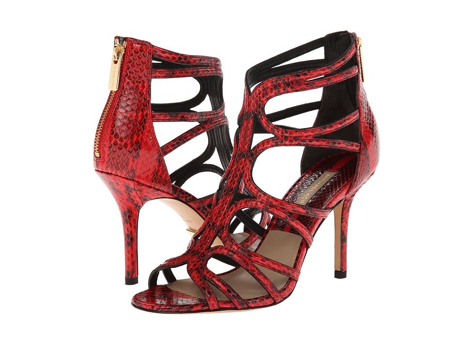 Michael Kors Norma (Scarlet 18K Genuine Snake) High Heels