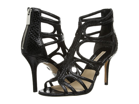Michael Kors - Norma (Black Palladium Genuine Snake Solid) High Heels
