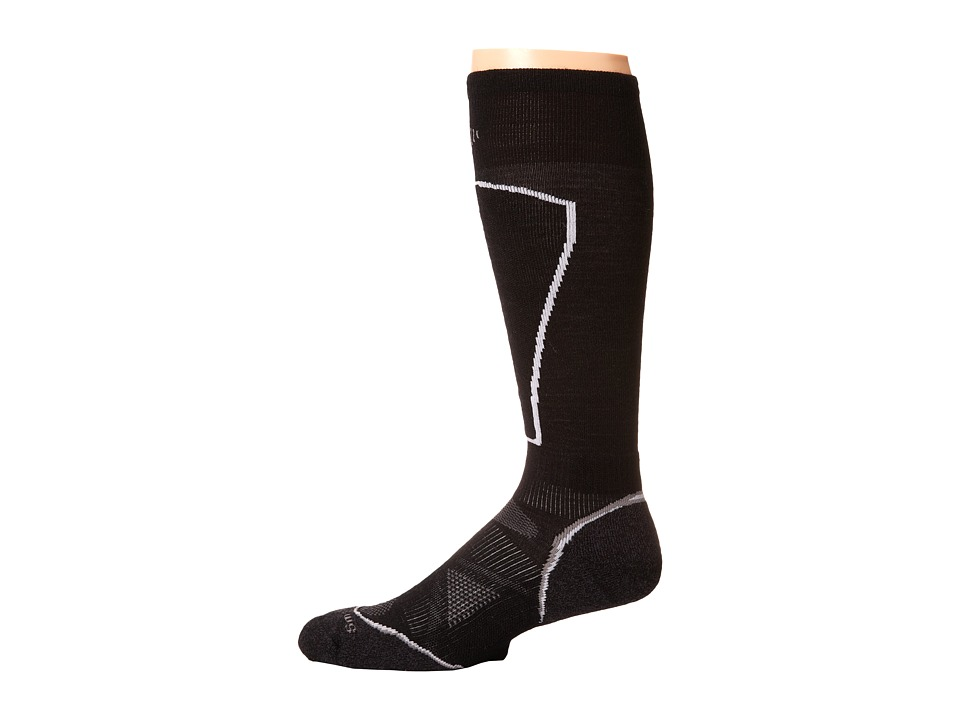 Smartwool - PHD Ski Light (Black) Men's Crew Cut Socks Shoes