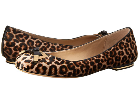 Michael Kors - Pearl (Fawn Leopard 18K Leopard Hair Calf/Smooth Calf) Women's Flat Shoes