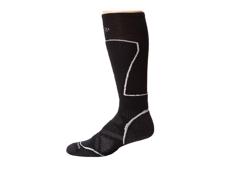Smartwool - PhD Ski Medium (Black) Men's Crew Cut Socks Shoes