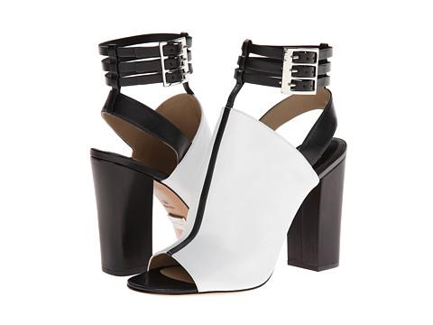 Michael Kors - Phaedra (Optic White/Black Palladium Smooth Calf) High Heels