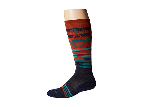 Smartwool - PhD Slopestyle Margarasta (Navy) Men's Crew Cut Socks Shoes