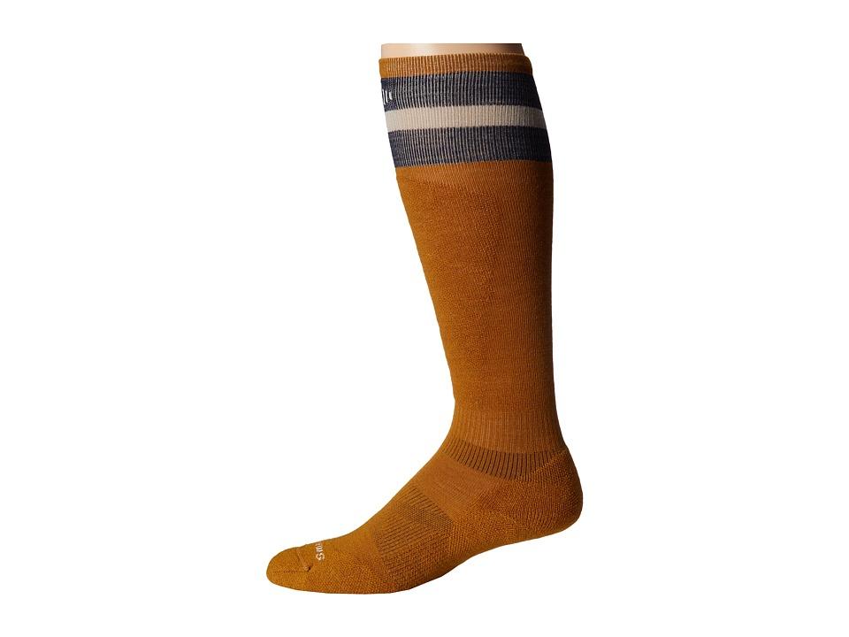 Smartwool - PhD Slopestyle Tube Sock (Harvest Gold) Men's Crew Cut Socks Shoes