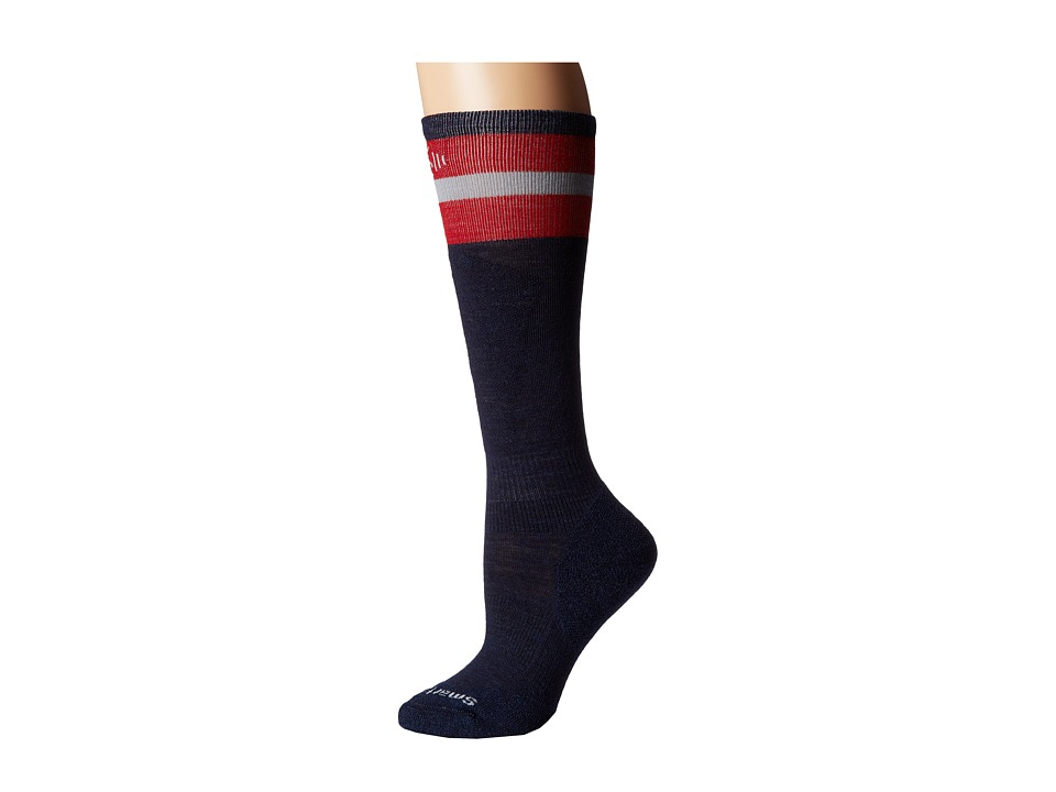Smartwool - PhD Slopestyle Tube Sock (Navy) Men's Crew Cut Socks Shoes