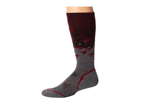 Smartwool - PhD Snowboard Light Pattern (Aubergine) Men's Crew Cut Socks Shoes