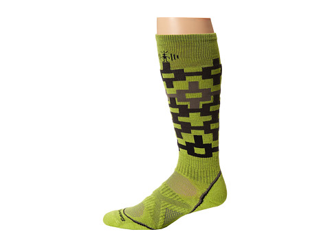 Smartwool - PhD Snowboard Medium Pattern (Smartwool Green) Men's Crew Cut Socks Shoes